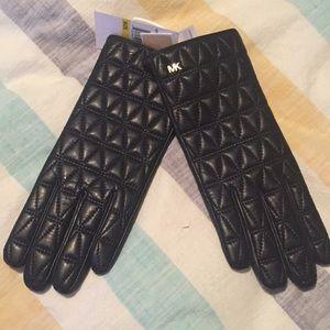 Michael Kors leather winter gloves